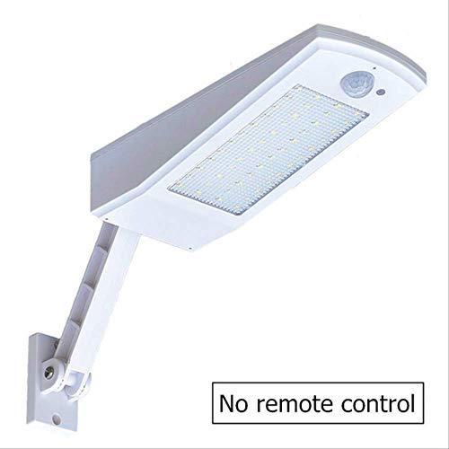 XYQY LED Solar Licht Outdoor wasserdicht 48 LED Garten Solar Licht Bewegungssensor PIR 4Modes mit Fernbedienung 900LM Solarlampen Warm White Lighting Weiße Schale