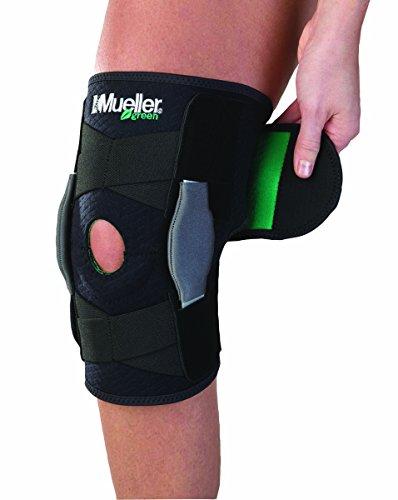 Mueller Green Line Einstellbare Kniebandage mit Gelenk, schwarz, Einheitsgröße (One size)