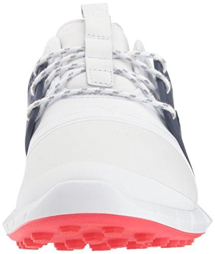 PUMA Golf Men s Ignite Pwrsport Pro Golf Shoe  White Silver-Peacoat  14 M US