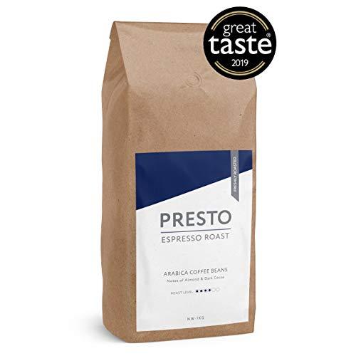 Presto Kaffeebohnen - Espresso Crema - 100% Arabica-Kaffee - (1kg  Barista-Kaffee)