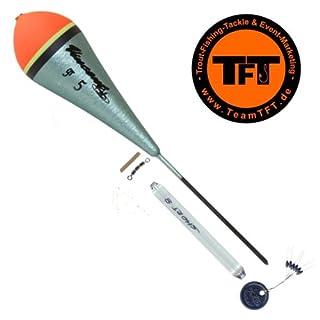 TFT Tremarella Set Shadow - Forellenpose zum Tremarellaangeln, Angelpose zum Forellenangeln, Posen für Forellen, Forellenschwimmer, Tragkraft:3g