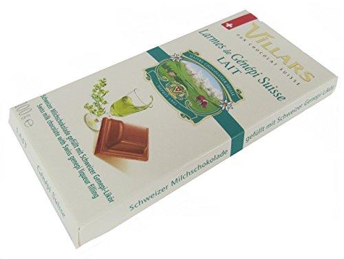 schweizer Villars Schokolade Milchschokolade gefüllt mit Genepi Likör 100 g