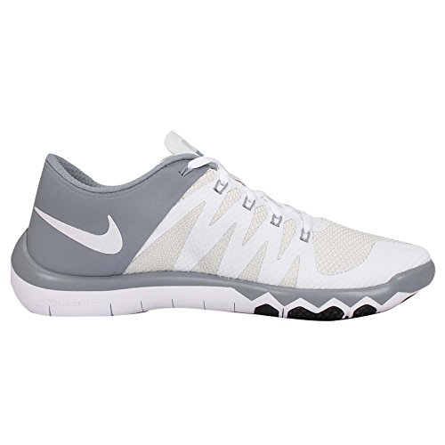 Nike - Free Trainer 5.0 V6 - , homme, multicolore (rdnt emrld/lsr orng-obsdn-sqdr), taille 40 White/Dove Grey/Pure Platinum/White