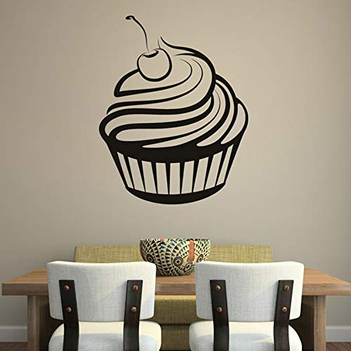 zxddzl Cherry Cream Cupcake Etiqueta De La Pared De La Cocina Ahueca...