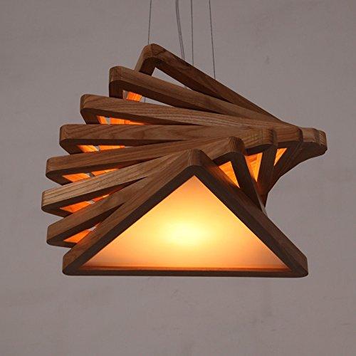 KMYX Amerikanischen Landhausstil Holz Pendelleuchten Persönlichkeit Bar Kronleuchter Acryl Schatten Deckenleuchte Für Wohnzimmer Küche Schlafzimmer Büro Decke Leuchte Höhe 100 cm einstellbar