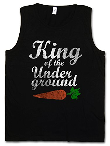 KING OF THE UNDERGROUND CANOTTA TANK TOP �?vegetariano Carrot Taglie S �?5XL Nero