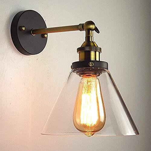 Louvra Applique Vintage Industriale Vetro Lampada da Parete...