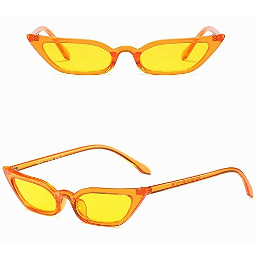 NINGSANJIN Sonnenbrille Frauen Vintage cat Eye Sonnenbrille Retro kleinen Rahmen uv400 Eyewear Mode Damen YE