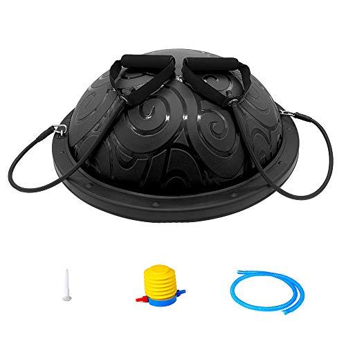 ATIVAFIT Balance Trainer Ball, Balancetrainer Gymnastikball 60cm mit Expander & Pumpe, Yoga Gymnastik Ball Yoga Half Ball für Krafttraining Gleichgewichtstraining Benutzergewicht bis 300kg
