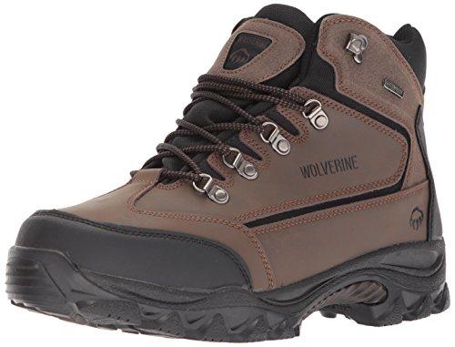 Wolverine w05103Herren Spencer Wasserdicht mid-cut Hiker Braun/Schwarz Stiefel Schuhe, Braun/Schwarz, 42 EU Mid Cut Hiker Boot