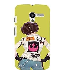 EPICCASE Trendy Girl Mobile Back Case Cover For Moto X (Designer Case)