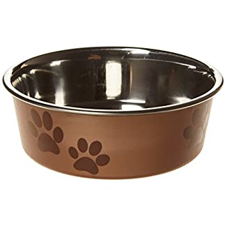 Trixie Stainless Steel Bowl with Plastic Coating, 12 cm Diameter 16
