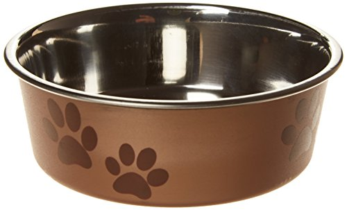 trixie-stainless-steel-bowl-with-plastic-coating-12-cm-diameter