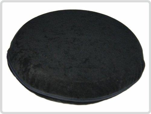 Bezug für Ballsitzkissen Ø 36cm, Bezug: Suedine, schwarz