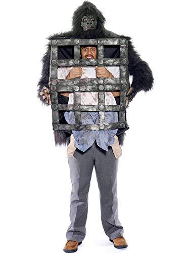 Kostüm Mann im Gorilla-Käfig (Mann Im Käfig Kostüm)