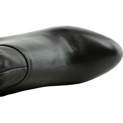 INC International Concepts Gallia Damen Rund Leder Mode-Stiefeletten Black