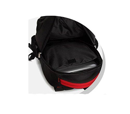 LAIDAYE Geschäft Schulter Laptop-Tasche Black