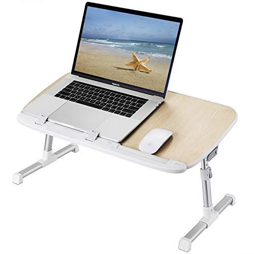 uf Bett, Klappbett Schreibtisch Kinder, Bettablage Tisch höhenverstellbar, neigbarer Laptop Tischständer für Couch.Sofa, Schoß und Schreiben (Holz) ()