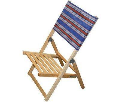 Sedia spiaggina mare/piscina richiudibile in legno massello 1 pezzo