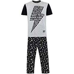 Harry Potter Pijama para Hombre Negro X-Large