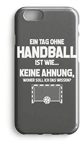 shirt-o-magic Handyhülle Handball-Fan: Tag ohne Handball? Unmöglich! - Case -iPhone 7-Mausgrau