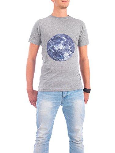 """Design T-Shirt Männer Continental Cotton """"Earth blue"""" - stylisches Shirt Abstrakt Natur von Julia Hariri Grau"""