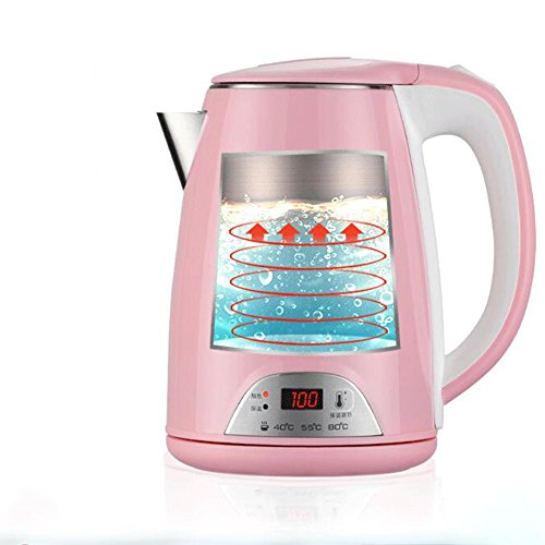 GXIAO Kitchen & Home Appliances Electric Kettle PP + 304 Stainless Steel Three Sections Of Temperature Control 1.2L 1500W Pink Electric Kettles Hot Water Dispensers