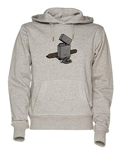 aus von Treibstoff Unisex Grau Sweatshirt Kapuzenpullover Herren Damen Größe M   Unisex Sweatshirt Hoodie for Men and Women Size M