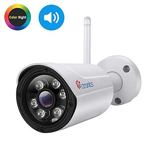 (Fisheye) Ctronics WLAN IP Kamera,720P Überwachungskamera 150°Weitwinkel Dome Home Drahtlos Kamera mit 1-Wege Audio,Nachtsicht,Bewegungserkennung,Email Alarm,PC,Tablet,Smartphone App,Deutscher Manual