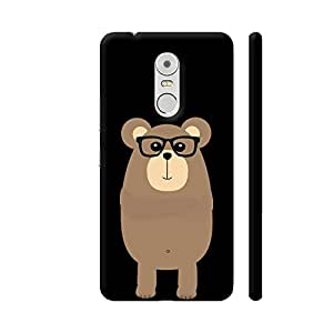 Colorpur Lenovo K6 Note Cover - Nerd Brown Bear Printed Back Case
