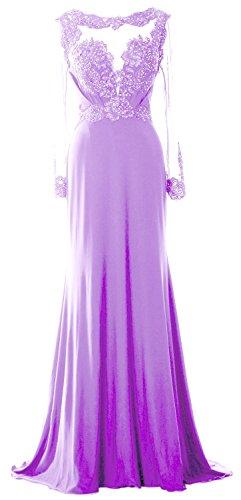 MACloth - Robe - Trapèze - Manches Longues - Femme Violet - Lavande
