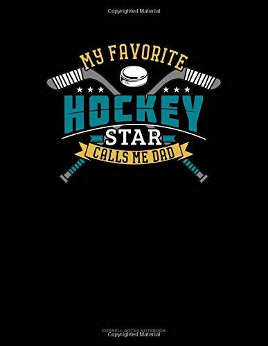 My Favorite Hockey Star Calls Me Dad: Cornell Notes Notebook por Jeryx Publishing