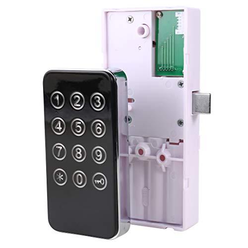 Preisvergleich Produktbild HWMATE Elektronisches Schrankschloss Keyless Digital Touch Tastatur Lock Password & Wristband Eingang für Schublade Schließfach Aufbewahrungsbox