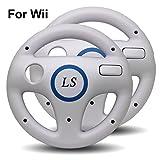 LS 2x Lenkrad Racing Wheel für Nintendo Wii - weiss -