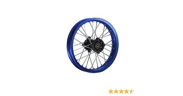 Hmparts Alu Felge Eloxiert 14 Zoll Hinten Blau 12 Mm Typ2 Pit Bike Dirt Bike Cross Auto
