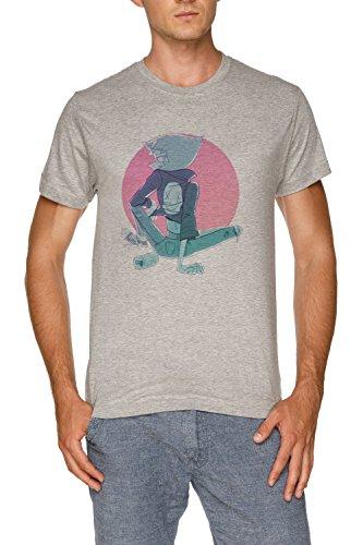 Jergley Letzte Ein aus von Strand Stadt Herren Grau T-Shirt Größe S | Men's Grey T-Shirt Size S (Letzte T-shirt Out)
