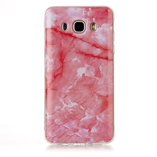 inShang Samsung Galaxy A5 (2016) coque étui pour téléphone portable, Anti Slip, ultra mince et léger, étui rigide fait dans le matériel de TPU, housse Mate9 coque,marble pattern Deep pink