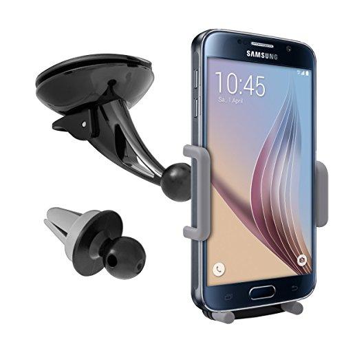Play Google Htc One (kwmobile Flexible KFZ Halterung für Smartphones - PKW Auto Halter für Scheibe und Lüftung - z.B. geeignet für Samsung, Apple, Wiko, Huawei)
