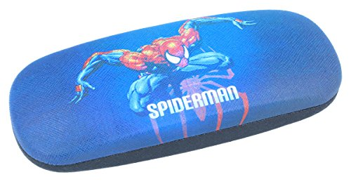 cooles Brillenetui für Kinder - SPIDERMAN - in blau mit Metallscharnier