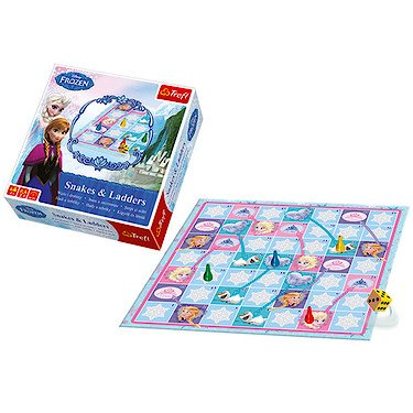 Preisvergleich Produktbild Disney – Die Eiskönigin Völlig Unverfroren - Schlangen und Leitern (Englische Sprache)
