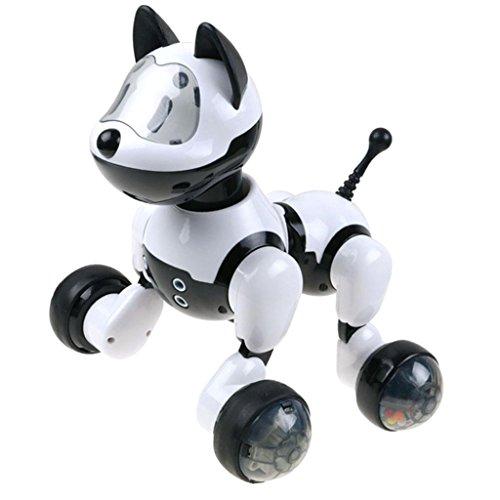 F Fityle Niedliche Elektronischer Intelligente Roboter Haustier Spielzeug - Sprachsteuerungs Vielseitige Roboterhund / Roboterrkatze mit 15 Sprachsteuerung Befehle - Hund