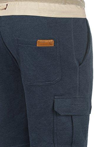 SOLID Trip Herren Cargo-Shorts kurze Hose Business-Shorts aus hochwertiger Baumwollmischung Insignia Blue Melange (8991)