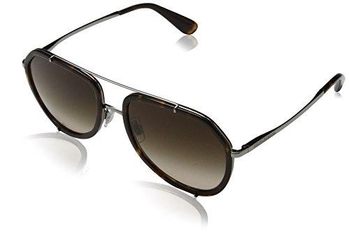Dolce & Gabbana Damen 0DG2161 04/13 55 Sonnenbrille, Braun (Havana/Gunmetal/Browngradient),