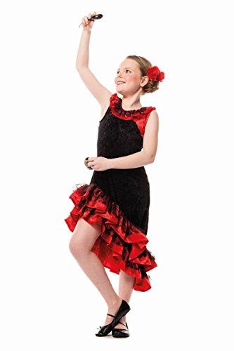 Kinder Kostüm Spanierin Flamenco Tänzerin Karneval Fasching Gr.116 (Flamenco Kostüm Kind)