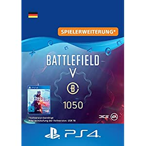 Battlefield V – Battlefield-Währung 1.050 – PS4 Download Code – deutsches Konto DLC | PS4 Download Code – deutsches…