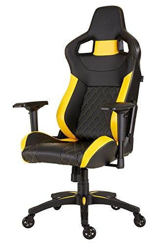 Corsair T1 Race v2 Schreibtisch- und Gaming-/ Bürostuhl, mit hoher Rückenlehne, Lederimitat,...