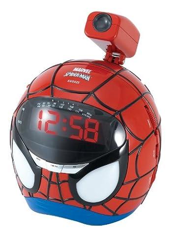 Lexibook RP160SP - Spiderman Wecker mit Projektion (Zeit Spider Man Wecker)