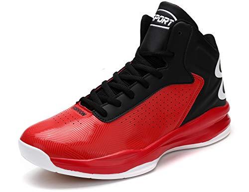 SINOES Zapatos De Los Hombres De Microfibra Otoño De Invierno Zapatos Deportivos De Alta Top Zapatillas De Aire Colchón De Baloncesto Zapatos De Fondo Grueso Casual