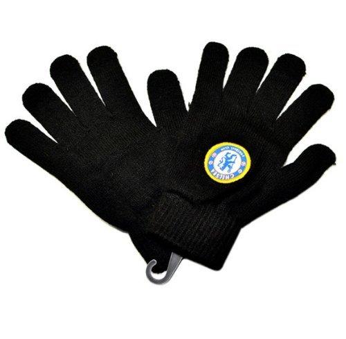 Chelsea FC Black Knitted Gloves