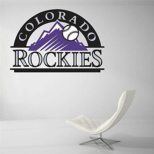 Wandtattoo Colorado Rockies Baseball Team Zeichen Wand Dekor MLB Logo Wand Aufkleber Vinyl Dekor Zimmer Auto Aufkleber Kunst